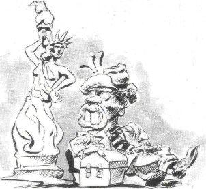 Ilustración de Los sobrinos del tío Sam. Autor: Marcelo Spotti..